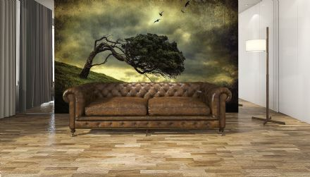 Photo wallpaper Scary Vintage Tree